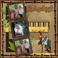 Rafiki - MouseScrappers - Disney Scrapbooking Gallery