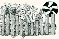 zentangle0014 by louvebleue, via Flickr using Rotring Rapidograph