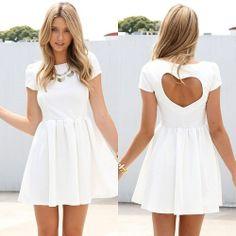 Rozkloszowana Sukienka serce na plecach ZAR SIWIEC