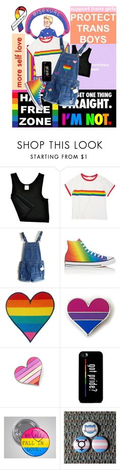 """""""Pride Month 2017"""" by sebastian-wolfe-ox ❤ liked on Polyvore featuring Converse, pride, ProudToBePan and ProudToBeTrans"""