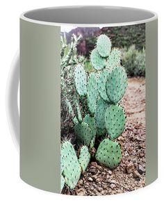 Do not pet me by Evgeniya Lystsova   Prickly pear cactus in the desert of Arizona, Tonto National Forest, USA #EvgeniyaLystsovaFineArtPhotography #Landscape #Cactus #Nature #TravelPhotography #Arizona  #FineArtPrints #HomeDecor #InteriorDesign #Mug #CoffeeMug