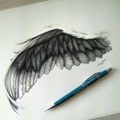 Black angel wing Tattoos And Body Art angel wings tattoo Black Angel Wings, Black Angels, Bird Wings, Wing Tattoo Designs, Tattoo Design Drawings, Art Drawings Sketches, Pencil Drawings, Sketch Tattoo, Bild Tattoos