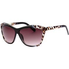 SW Global Trendy Animal Safari Outdoor UV400 Sunglasses - Black... ($19) ❤ liked on Polyvore featuring accessories, eyewear, sunglasses, black, lens glasses, black gradient sunglasses and animal sunglasses
