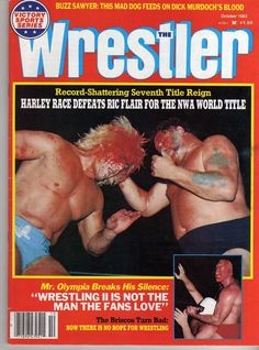 The Wrestler - October 1983 - Ric Flair, Harley Race, Mr. Nwa Wrestling, World Championship Wrestling, Wrestling Stars, Wrestling Superstars, Harley Race, Bodybuilding Pictures, Ric Flair, Sport Of Kings, Professional Wrestling