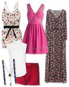"""HALLOWEEN COSTUMES: GROUP COSTUME: THE 'GIRLS' CAST Got a group of four? Dress up as the girls from 'Girls.' For Hannah, commit to a floral romper, or """"shorteralls;"""" for Marnie, piece together her hostess uniform with suspenders and shorts. Swirl your hair into a doughnut and slip on a pink dress to take on Shoshanna's quirky girlishness, and speak to Jessa's bohemian side with a long sheer maxi dress."""