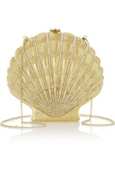 Charlotte Olympia|Shell Shocked gold-tone clutch