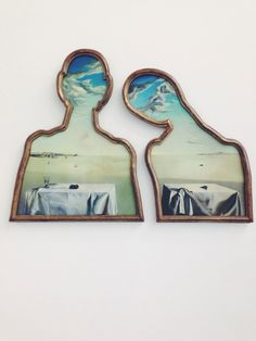 Salvador DaliA Couple with their Heads full of Clouds (1936)