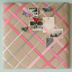 Ribbon Pinboards: Katelyn's 4H project