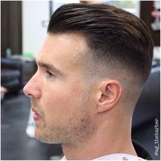 """imonkeyaround: """"Reposts from Here is a haircut by It is traditional with all the old school trimmings. It is clean, smooth and well-defined. Short Hair With Beard, Mens Hairstyles With Beard, Haircuts For Men, Short Hair Cuts, Short Hair Styles, Old School Hairstyles, Hairstyles Haircuts, High And Tight Haircut, Fade Haircut"""
