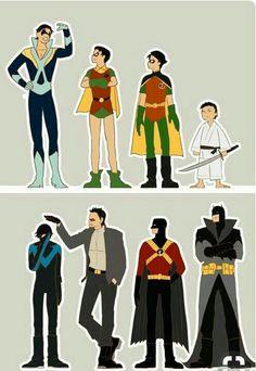 Batgirl, Nightwing, Catwoman, Marvel Fanart, Hq Marvel, Marvel Dc Comics, Tim Drake, Damian Wayne, Wayne Family