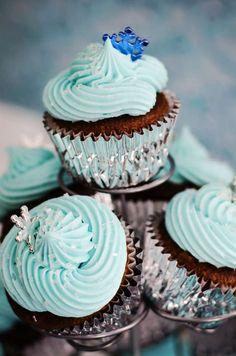 Cupecake chocolat menthe pour la Reine des Neiges... (Kids birthday Frozen)