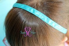 Sassy Band 3/8 Turquoise Glitter  No-Slip by SassyStylesbySS