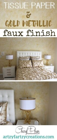 Elegant Wall Finish from Bits of...Tissue Paper? http://www.hometalk.com/17913281/elegant-wall-finish-made-with-tissue-paper-from-the-dollar-store-?se=fol_new-20160702-1&date=20160702&slg=41b6c72bccf3ca6d91dd1eb94371af42-1110481