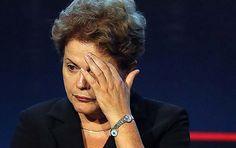 Como em Lie to Me, o sinal claro de vergonha. ;)  A presidente Dilma Rousseff na abertura do Salão Internacional da Construção, em São Paulo