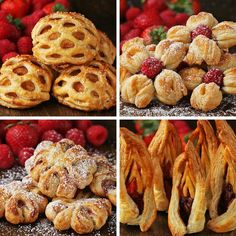 Puff Pastry Desserts, Puff Pastry Recipes, Puff Pastries, Savory Pastry, Choux Pastry, Strawberry Puff Pastry, Strawberry Shortcake, Just Desserts, Dessert Recipes