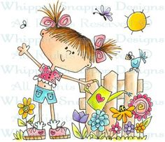 What a Day! - Whimsical - Floral/Garden - Rubber Stamps - Shop