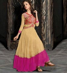 ONLINE SALE NEW FASHION BOLLYWOOD STYLE EMBROIDERED EVENING GOWN VDMEE1008 Rs.1,725.00