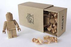 wood lego guy by Malet Thibaut