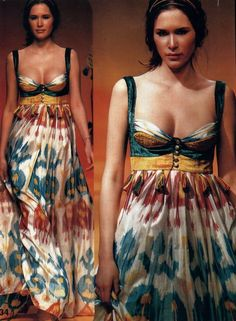 Gorgeous ikat dress. I love the details of construction!