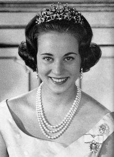 Princess Benedikte of Denmark wearing the Diamond Floral Tiara.