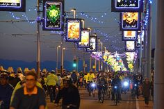 Ride the Lights at Blackpool Illuminations Blackpool England, Great Britain, Coast, Around The Worlds, Tower, Earth, Lights, Places, Rocks