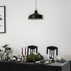 Christmas time in coziness of our dinning room in simply, minimalistic tones and Lyngby Porcelæn table ware