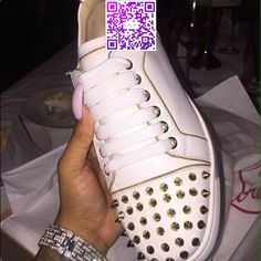 Christian Louboutin sneakers. Im selling a pair of Christian Louboutin sneakers.. All white with real gold spikes also genuine leather inside out! Christian Louboutin Shoes Sneakers