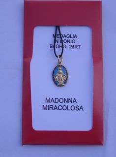 Miraculous Medal. 20 mm. Contact us on info@tiemmecreazioni.it