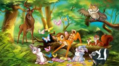 disney paintings | View Full Size | More bambi and friends alt disney bambi bunny ...