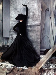 Carmen Dell'Orefice by Ruven Afandor. Vanity Fair Italia. Dress by Ralph Lauren.