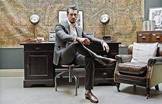 David Gandy at home in London