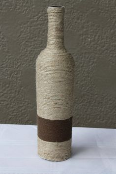 24 Custom Wrapped Wine Bottle with Twine. by DragonflyDaisies