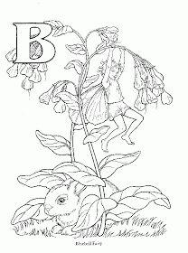 alphabet fairy coloring pages - fairy coloring b Fairy Coloring Pages, Printable Coloring Pages, Adult Coloring Pages, Coloring Books, Free Coloring, Embroidery Flowers Pattern, Alphabet Coloring, Letter B, Flower Fairies