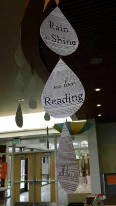 Rain or Shine, We Love Reading - with raindrops/sun die cuts