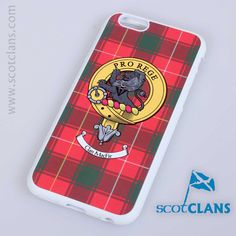 iPhone case with MacPhee Clan Crest and Tartan