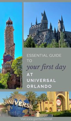 What to expect on your first visit to Universal Orlando, including touring tips for the Wizarding World of Harry Potter. From GoInformed.net Orlando Theme Parks, Universal Orlando, Touring, Islands, Harry Potter, Adventure, World, Disney, Tips