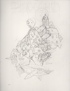 P1-Cover-(pencil) Mike Mignola Art, Comic Book Collection, Fish Art, Fantasy Artwork, Comic Art, Comic Books, Character Design Inspiration, Alter, Art Reference