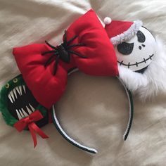 the nightmare before christmas inspired minnie mouse disney ears source