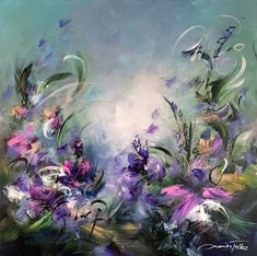 Flower Painting Canvas, Garden Painting, Abstract Canvas Art, Painting & Drawing, Kinkade Paintings, Bloom Blossom, Painting Inspiration, Art Reference, Original Paintings