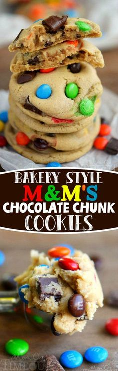 These Bakery Style M&M's and Chocolate Chunk Cookies are my new favorite thing. Incredibly soft, infinitely chewy and easy as can be. You need to give this recipe a try!