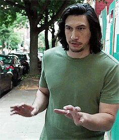 I loved him in this scene, the way he kept swerving objects and people lol and his face at the end, awesome #adam sackler#adam driver#hbo girls#season 6
