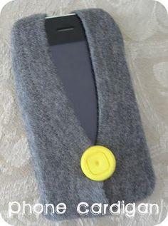 DIY Fabric Phone Case : DIY phone cardigan