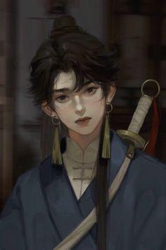 Hollow Art, Digital Art Tutorial, Manga Illustration, Boy Art, Fantasy Artwork, Anime Art Girl, Portrait Art, Aesthetic Art, Asian Art