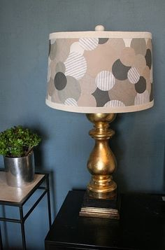 Make this lampshade for L's polka dot bedroom redo.the, brass lamp is UGLY in this photo.but the white one already in her room or a new silver one will look FAB! Dollar Store Crafts, Dollar Stores, Polka Dot Bedroom, Knock Off Decor, Decoration Inspiration, Lamp Inspiration, Lamp Shades, Diy Design, Diy Home Decor