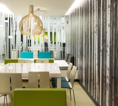 LEMAYMICHAUD | INTERIOR DESIGN | ARCHITECTURE | QUEBEC | OFFICES | Centre d'encodage Desjardins Architecture Design, Centre, Divider, Curtains, Room, Furniture, Home Decor, Bedroom, Architecture Layout