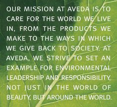 For all who have wondered, Aveda isn't as eco friendly or natural as they brand themselves, all though I'd say they're half way there.