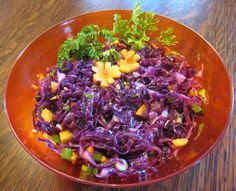 Red Cabbage Coleslaw