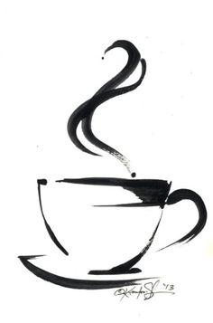 ARTFINDER: Brushstroke Coffee Cup No.5 by Kathy Morton Stanion #coffeecups