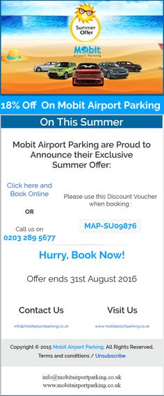 Avail 18% flat #discount on all #meet&greet #parking #deals this #summer at #UK airports.
