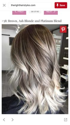 brown, ash blonde and platinum